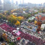تظاهرات کنندگان خواستار برکناری و بازداشت رئیس جمهور کره جنوبی شدند