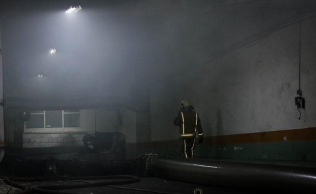 آتش سوزی ساختمان تعاونی شهری و روستایی