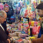 حضور سرزده محمود ثمینی در نمایشگاه پائیزه خرم آباد