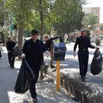 پاکسازی شهر خرم آباد با حضور فرمانده یگان حفاظت محیط زیست کشور