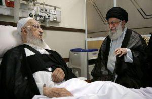 عیادت رهبر انقلاب از آیت الله ناصر مکارم شیرازی