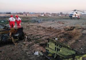 تصاویری از هواپیمای اوکراینی که در تهران سقوط کرد