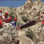 یک کوهنورد از ارتفاعات سفیدکوه خرم آباد سقوط کرد